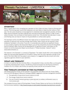 Fact Sheet Livestock